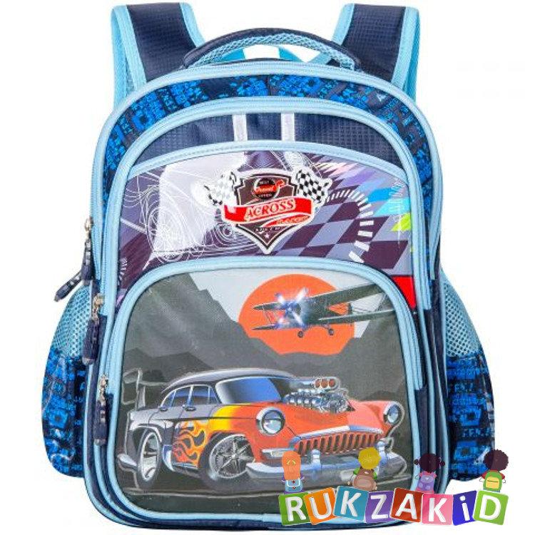 878a3b6884d1 Купить портфель школьный для мальчика across 311401 синий в интернет ...