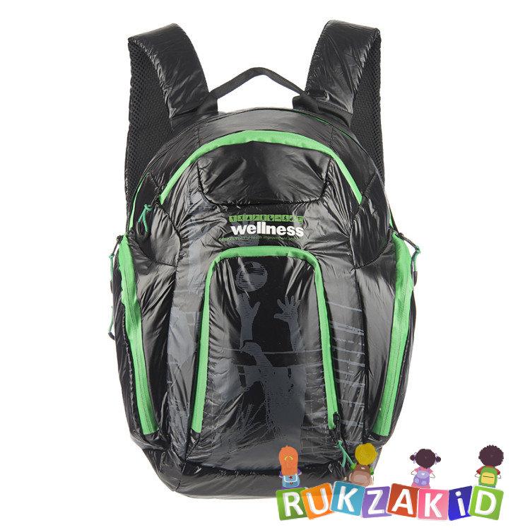 fd5786d7fc52 Купить рюкзак grizzly ru-417-1 wellness черный - зеленый в интернет ...