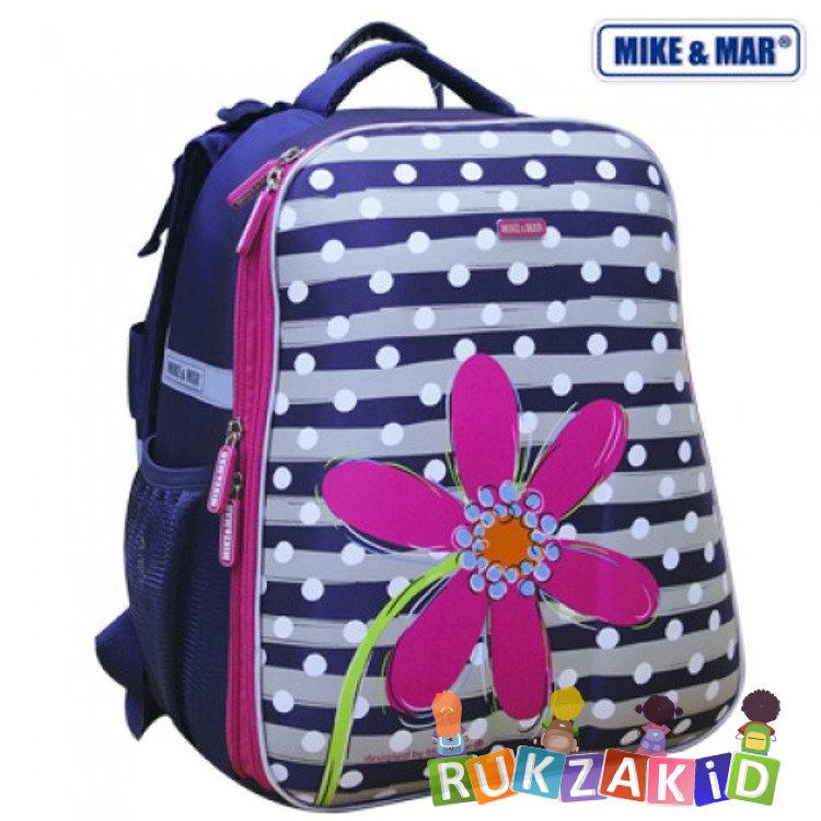 9ec03acdcd22 Купить рюкзак школьный mike mar 1008-96 цветок сине-серый/ малиновый ...