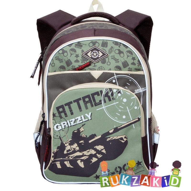 7f99ee44 Купить рюкзак школьный grizzly rb-632-1 коричневый - бежевый в ...