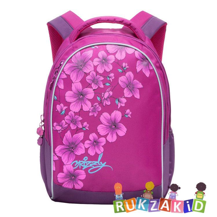 ca53a3d13a35 Купить школьный рюкзак для девочки grizzly rg-661-1 фиолетово ...