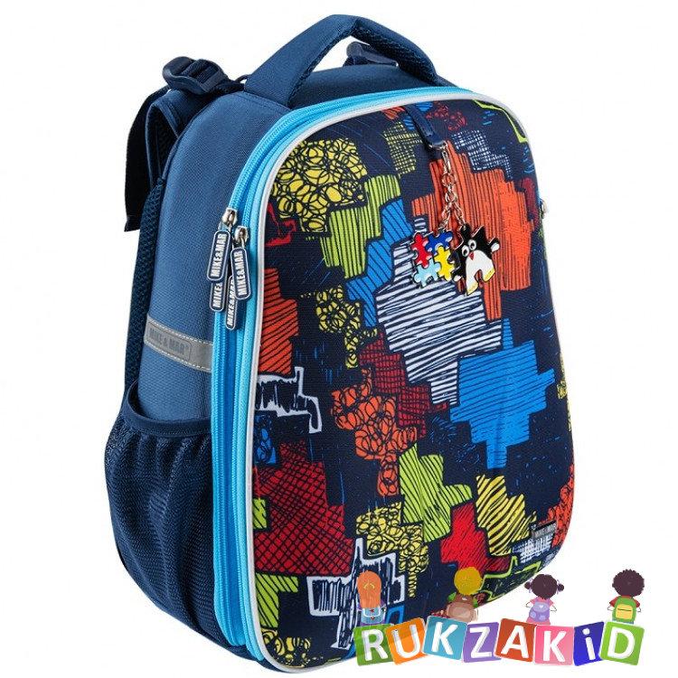 eabf050f3ffd Купить рюкзак школьный mike mar 1008-151 пазл синий в интернет ...