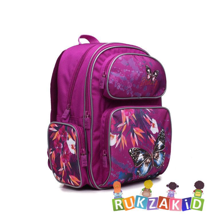 da2f3d7dafc3 Купить рюкзак для школьника 4all school ru 76-01 бабочка и цветок в ...