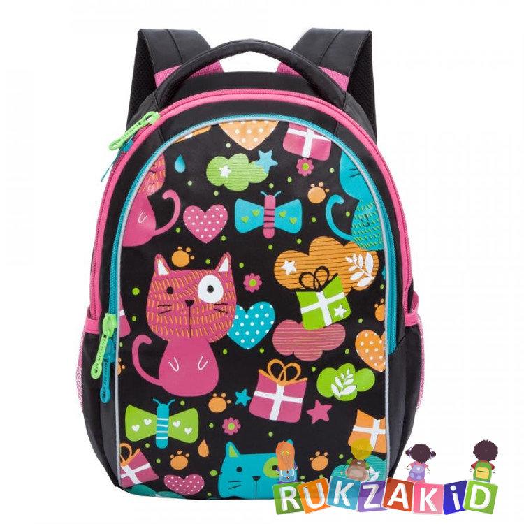 8de99fc90005 Купить рюкзак школьный для девочек grizzly rg-868-1 черный в ...