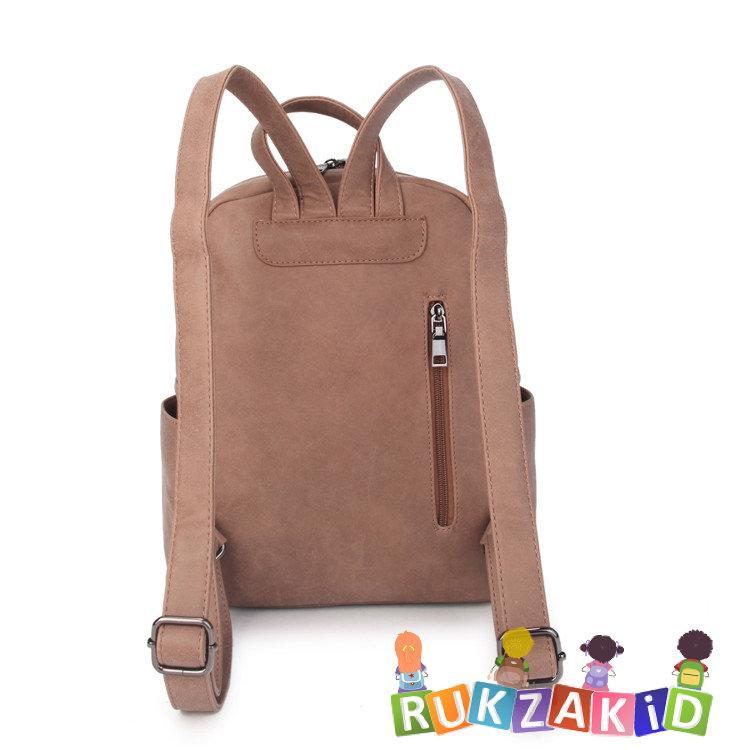3be9a66a96ab Купить женский рюкзак из экокожи ors oro d-455 бежевый в интернет ...