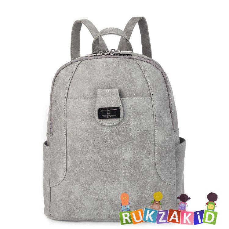 ce286fab35fa Купить женский рюкзак из экокожи ors oro d-455 серый в интернет ...