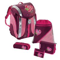 Ранец с наполнением 5 в 1 Hama Step By Step Flexline Set Tweedy Hearts