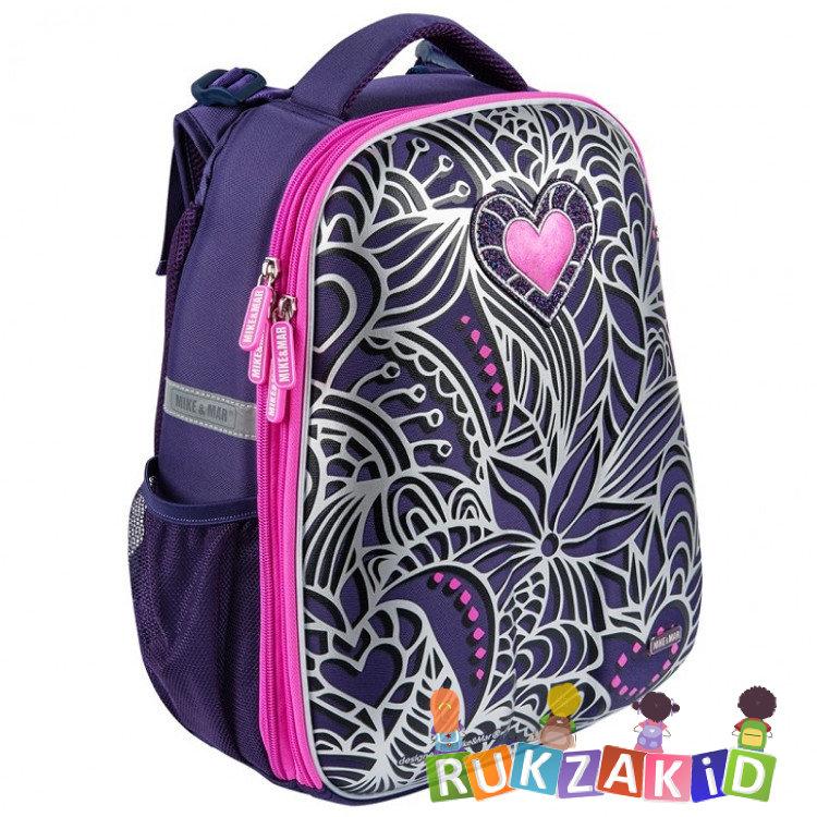 e01f4a7f84a6 Купить рюкзак школьный mike mar 1008-168 цветы фиолетовый в интернет ...