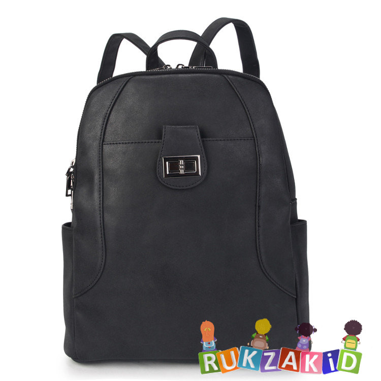 97ffecc09538 Купить женский рюкзак из экокожи ors oro d-455 черный в интернет ...