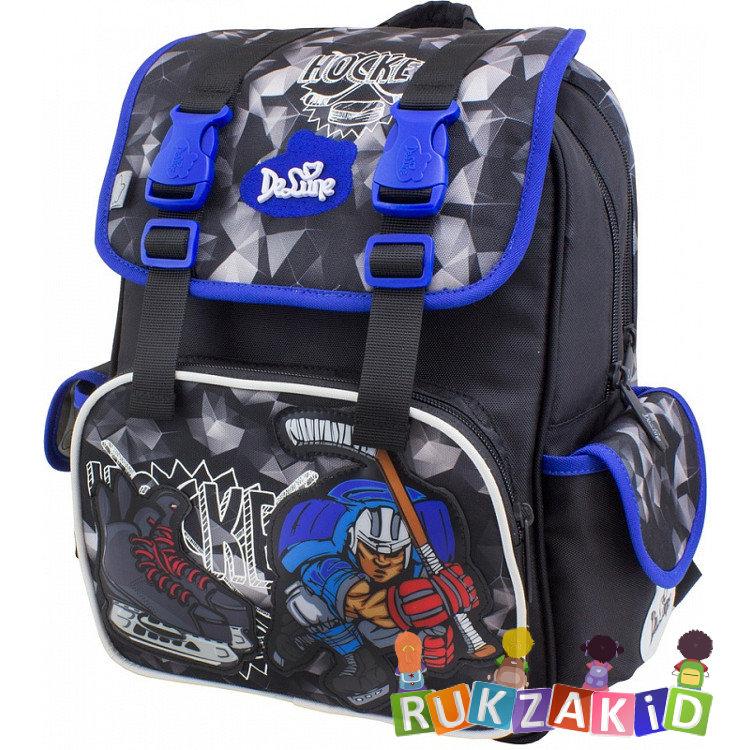 0bee74e926eb Купить рюкзак школьный delune 52-12 хоккей черно-синий в интернет ...