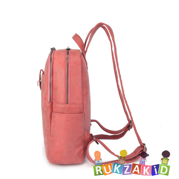 cd3943606861 Купить женский рюкзак из экокожи ors oro d-455 кирпичный в интернет ...