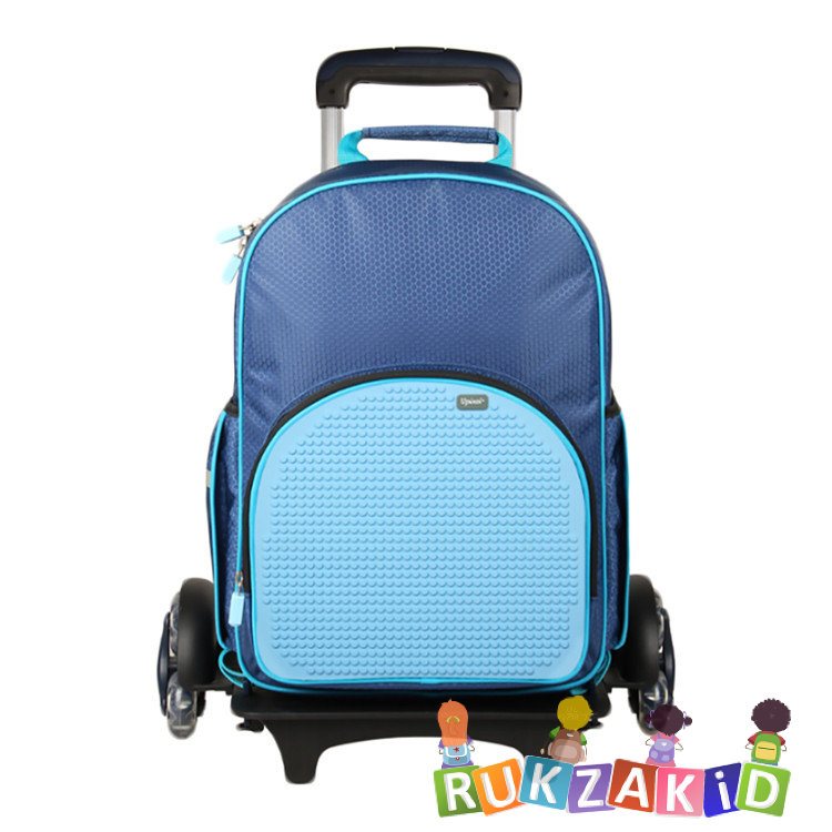 8488841a4f52 Рюкзак пиксельный на роликах Upixel Super Class Rolling Backpack WY-A024  Темно-синий