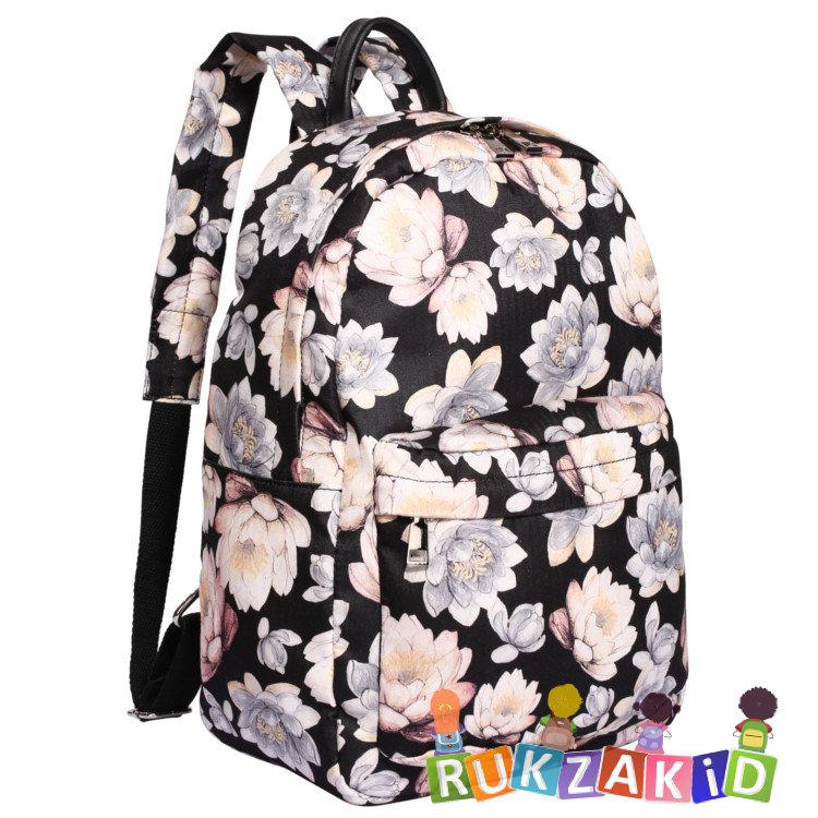 b6f71288846a Купить городской рюкзак pola 4345 крупные цветы черный в интернет ...
