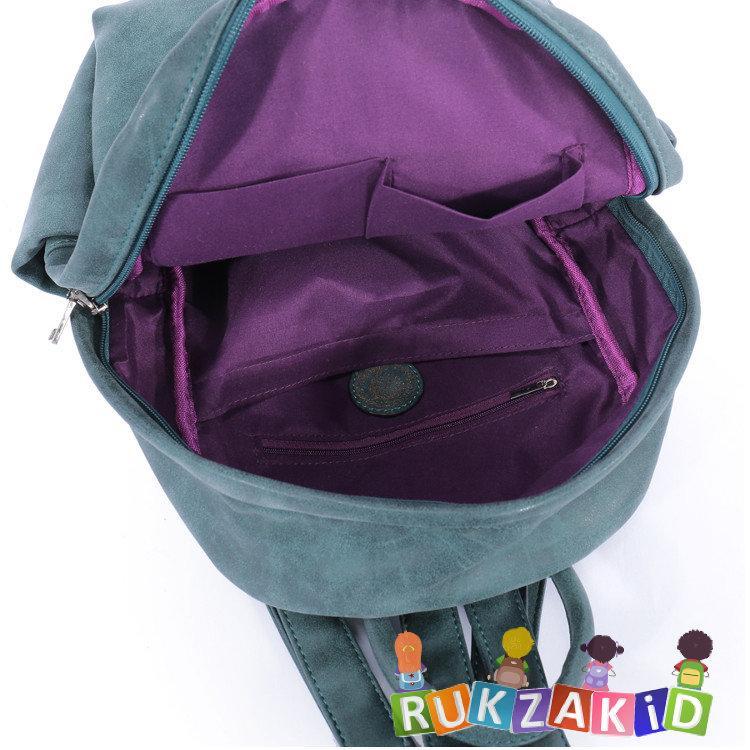 6dbd250203bf Купить рюкзак женский городской повседневный orsoro d-181 малахит в ...
