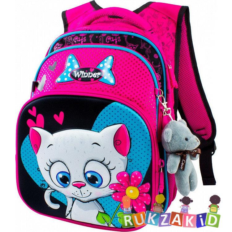 23b9bfee061e Купить школьный рюкзак winner 8009 котенок с цветком в интернет ...