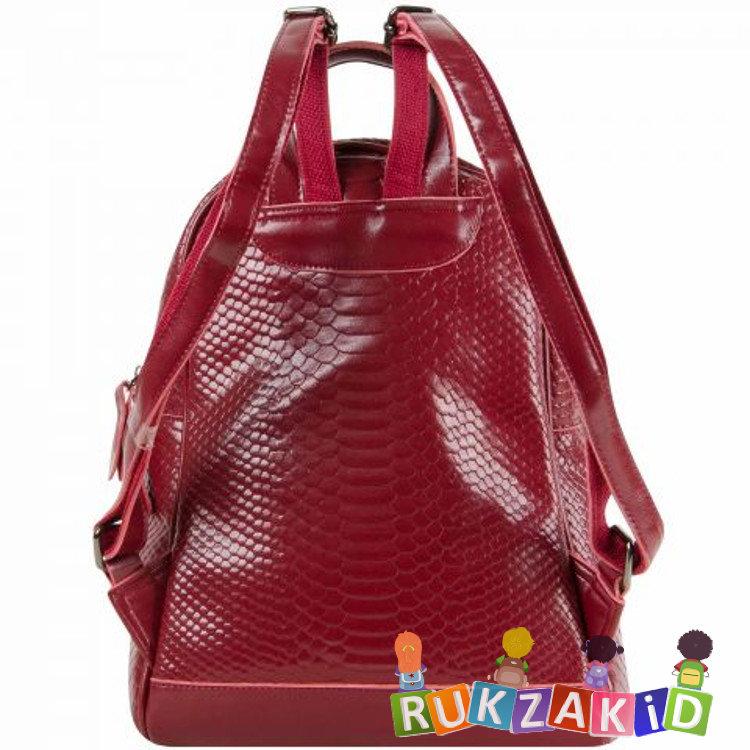 014b71d4aeec Купить бордовый рюкзак женский кожаный connecticut рептилия в ...