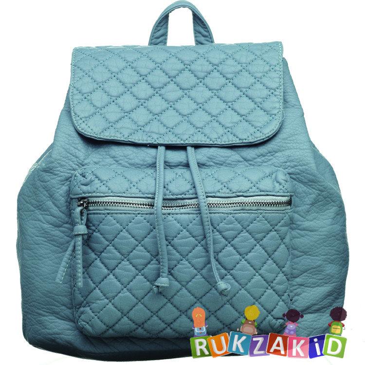 f95827f1766f Купить женский рюкзак из экокожи orsoro d-255 серо-голубой в ...