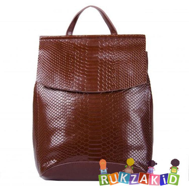 38403b5ac1fa Купить кожаный женский рюкзак сумка arkansas рептилия коричневый в ...