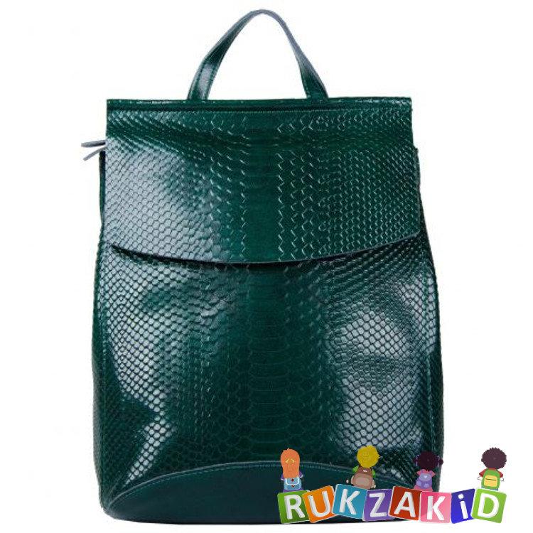 5b6033eac9b4 Купить сумка рюкзак женская arkansas рептилия зеленая в интернет ...