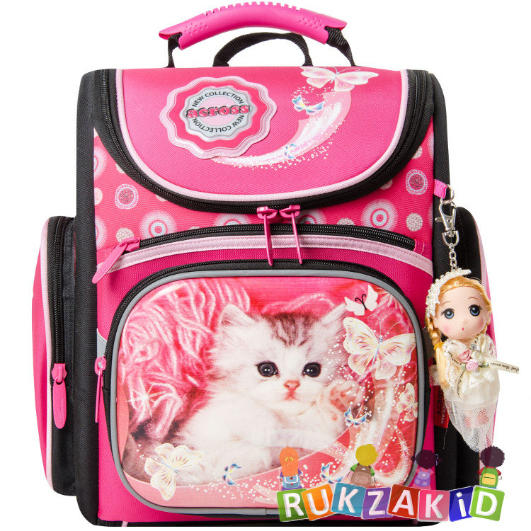 Школьный рюкзак для девочки 5-11 класс с кошкой как связать спицами детский рюкзак