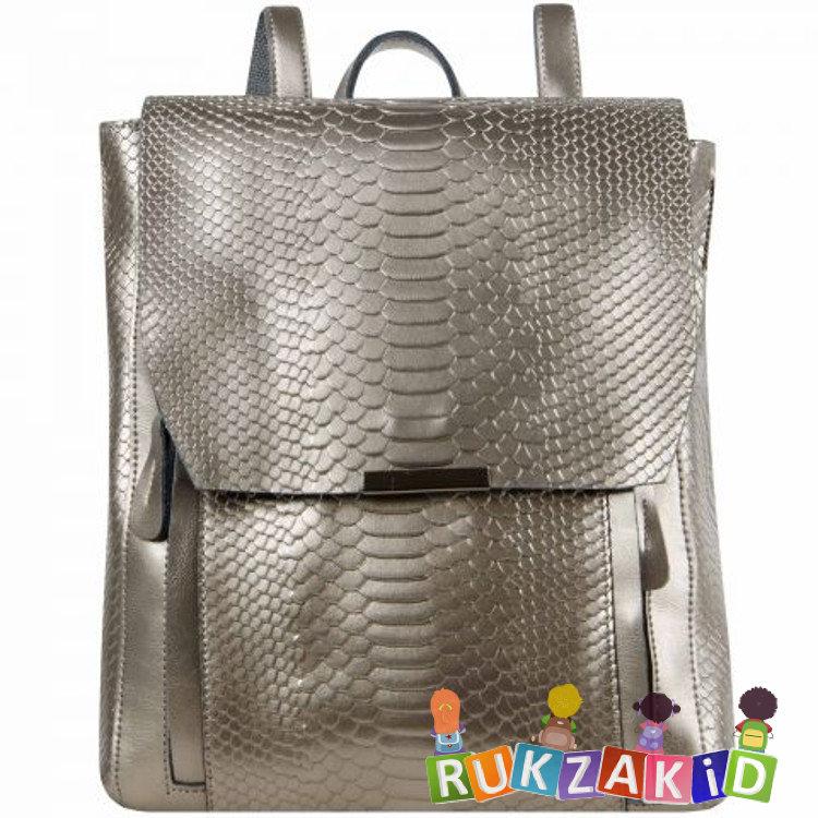 cb0e4fde2776 Купить кожаный рюкзак женский florida рептилия серебро в интернет ...