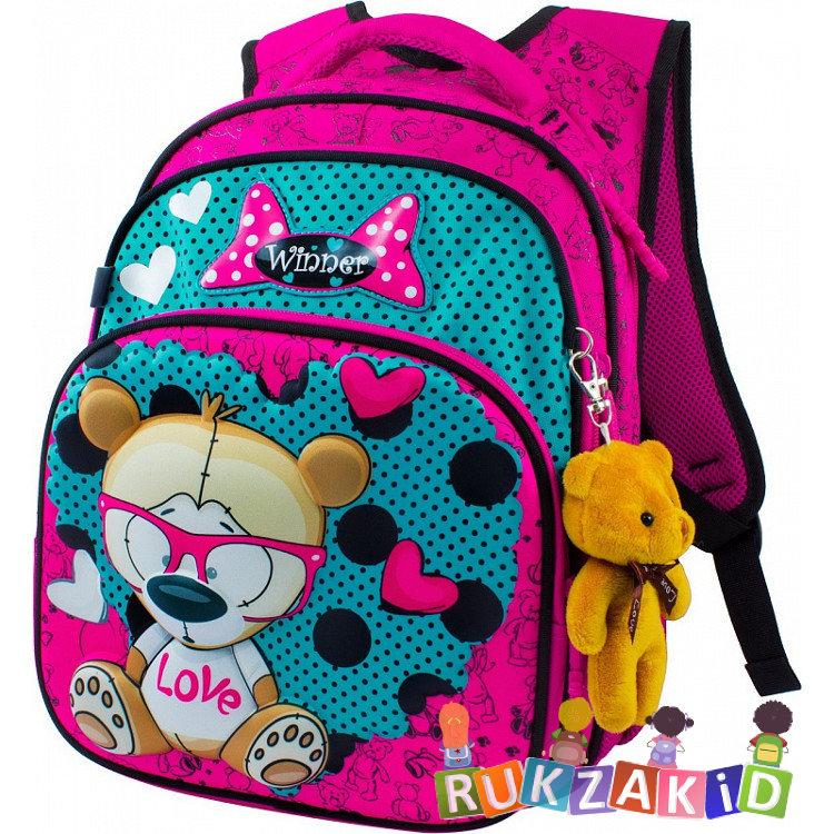 3bd98d1885db Купить школьный рюкзак winner 8015 медвежонок в очках в интернет ...