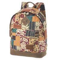 4f20d182eaf1 Стильный рюкзак для девушки Asgard Р-5437C Пэчворк Цветы беж-бордо