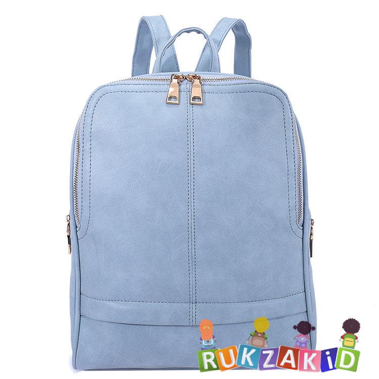 49766ef63f87 Купить женский рюкзак для города orsoro d-182 серо-голубой в ...