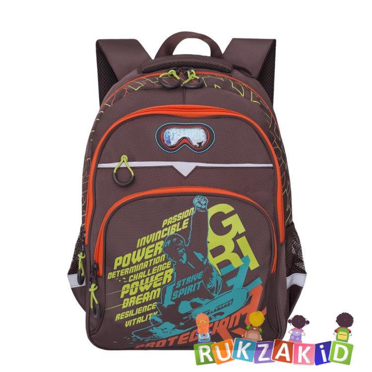 7a7597a7a938 Рюкзак школьный Grizzly RB-731-1 Strive Spirit Коричневый - оранжевый