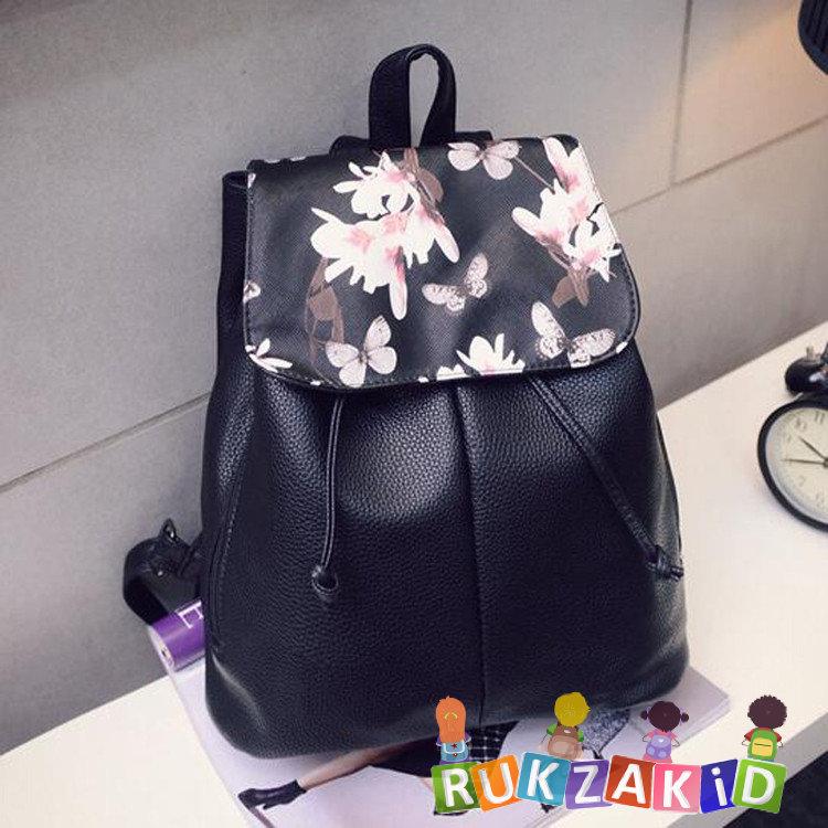 b200447a066e Купить женский рюкзак торба из кожзама city цветы в интернет ...