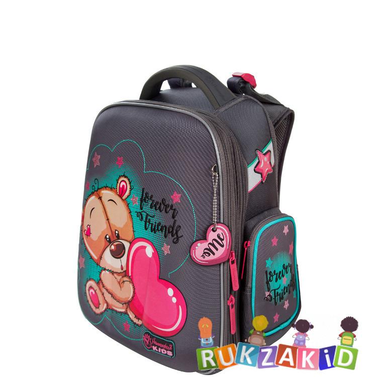 Купить рюкзак школьный hummingbird tk65 мидвежонок с сердечком серый в интернет магазине Rukzakid.ru