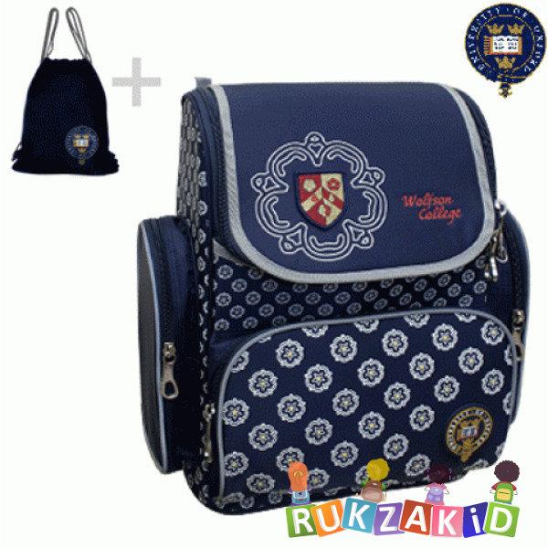 Купить ранец для школы oxford 1074-ox-47 сине-белый цветы в интернет магазине Rukzakid.ru