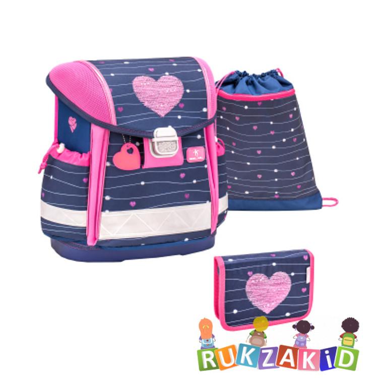 Купить ранец школьный belmil classy simple heart + мешок + пенал в интернет магазине Rukzakid.ru