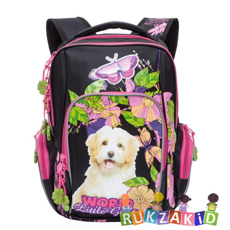 2550ceb2797f Купить рюкзак школьный grizzly rg-760-1 черный - розовый в интернет ...