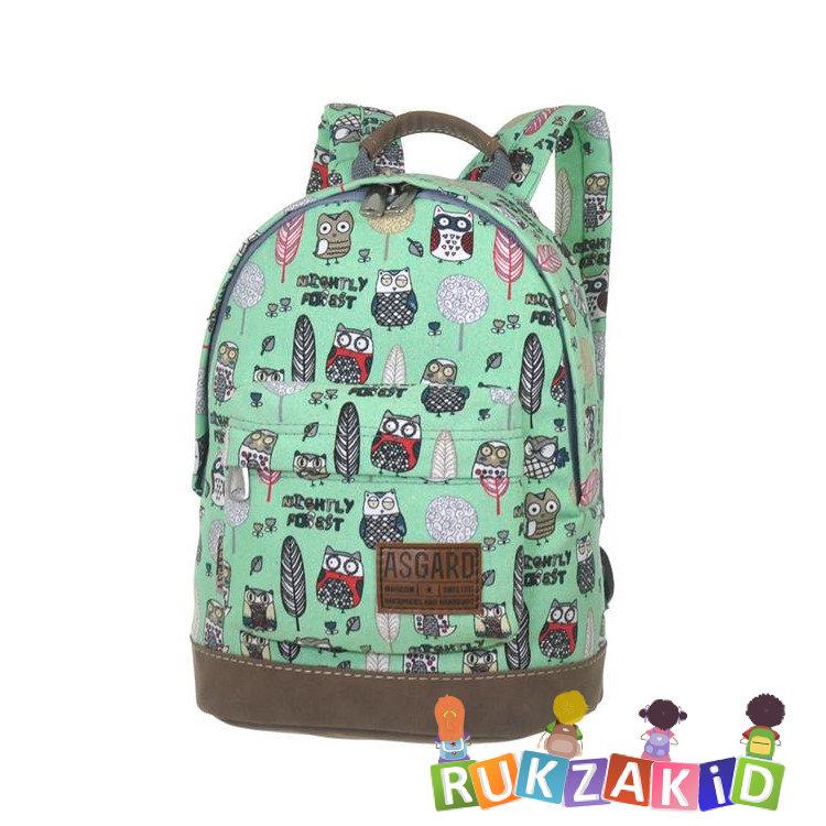 e2860d58d11e Купить маленький рюкзак asgard совы лес зеленый р-5424 в интернет ...
