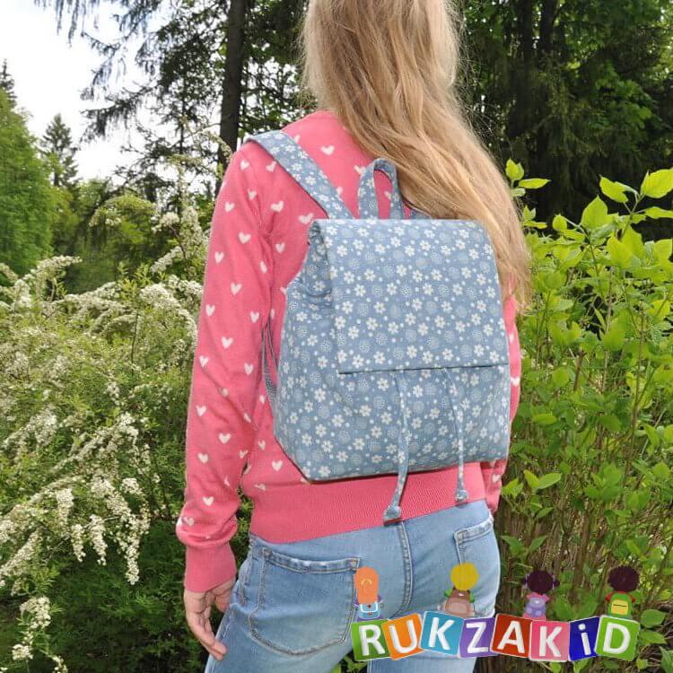 01356b869d6d Купить мини рюкзак для девушки asgard р-5580 джинс цветочки голубой ...