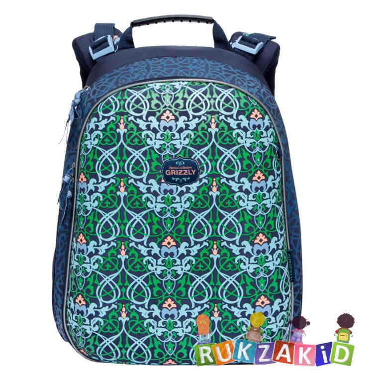 fa60c5ade464 Купить рюкзак школьный для начальных классов grizzly ra-779-4 синий ...