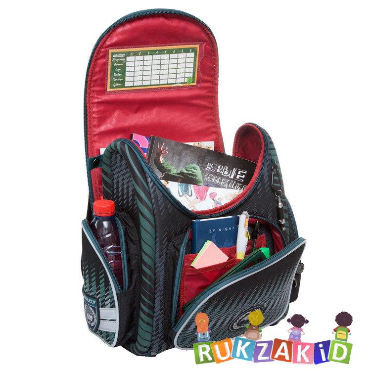 287d3c997b44 Купить школьный ранец для первоклассника grizzly ra-667-8 зеленый в ...