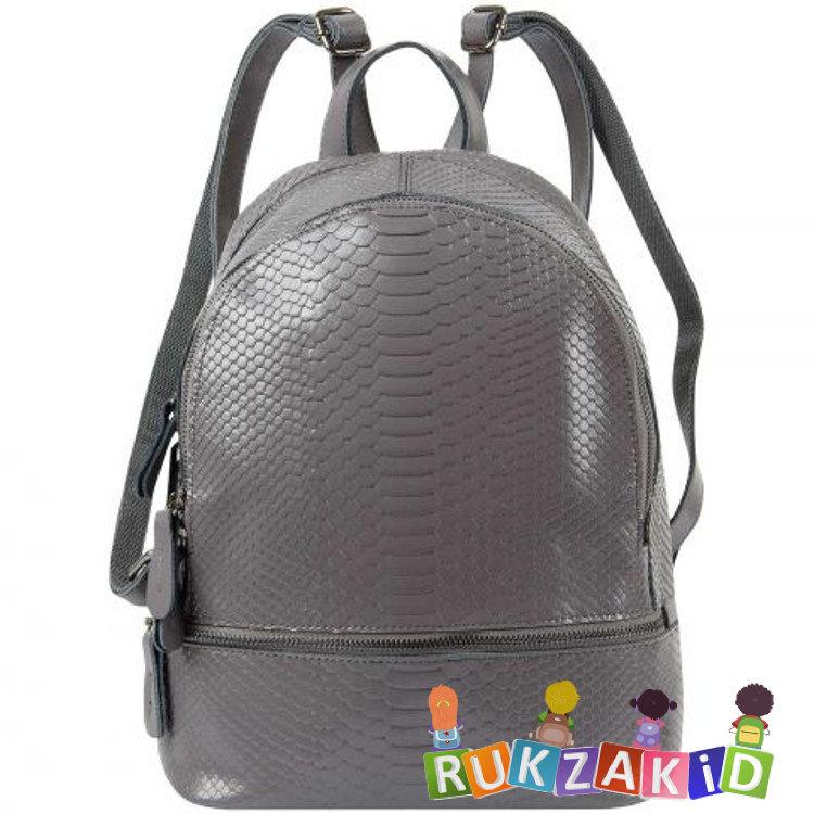 cb0bf664f957 Купить рюкзак женский кожаный connecticut рептилия темно-серый в ...