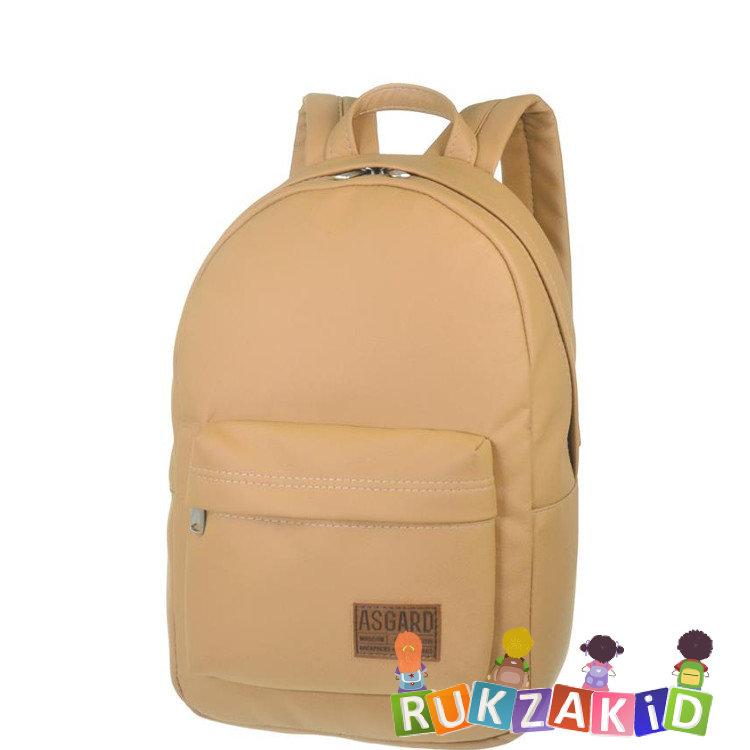 80d7c40db8e1 Купить городской рюкзак женский asgard р-5233 бежевый темный в ...