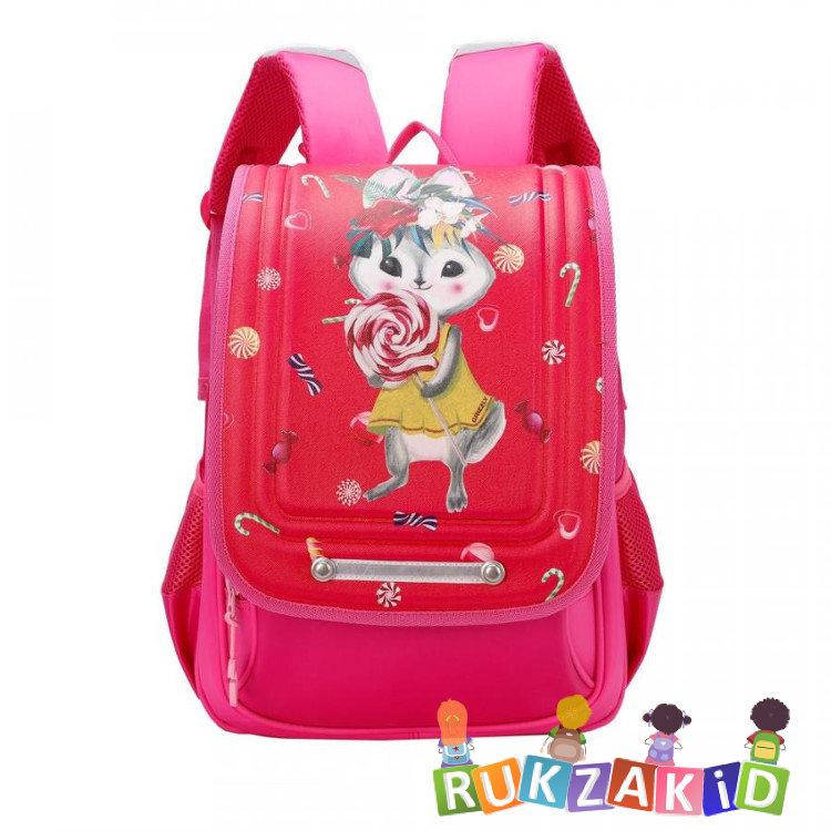 a7c9a30f7d4f Рюкзак школьный с ортопедической спинкой Grizzly RA-977-1 Зайчик Фуксия