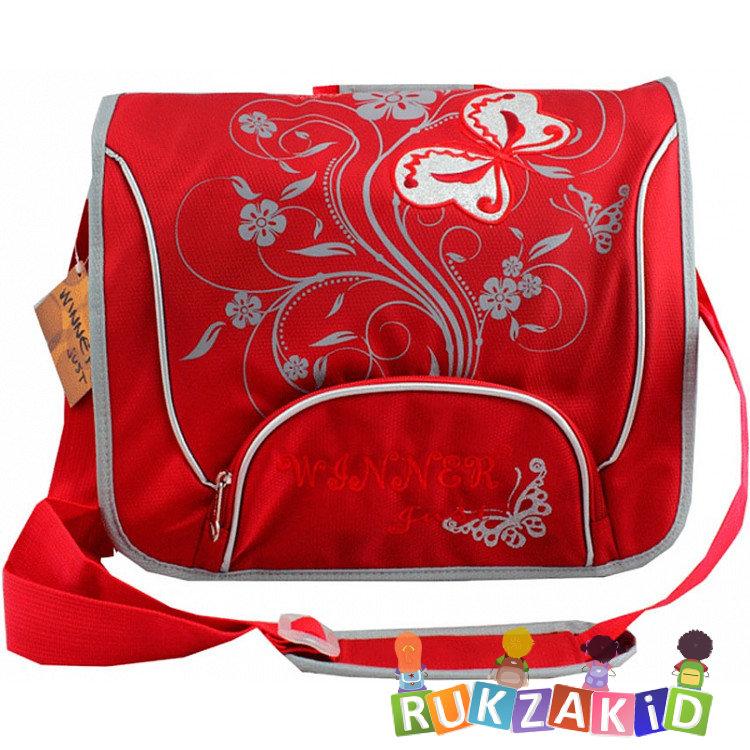759e8dedb58f Купить сумка школьная через плечо winner 162 цветы и бабочки красная ...