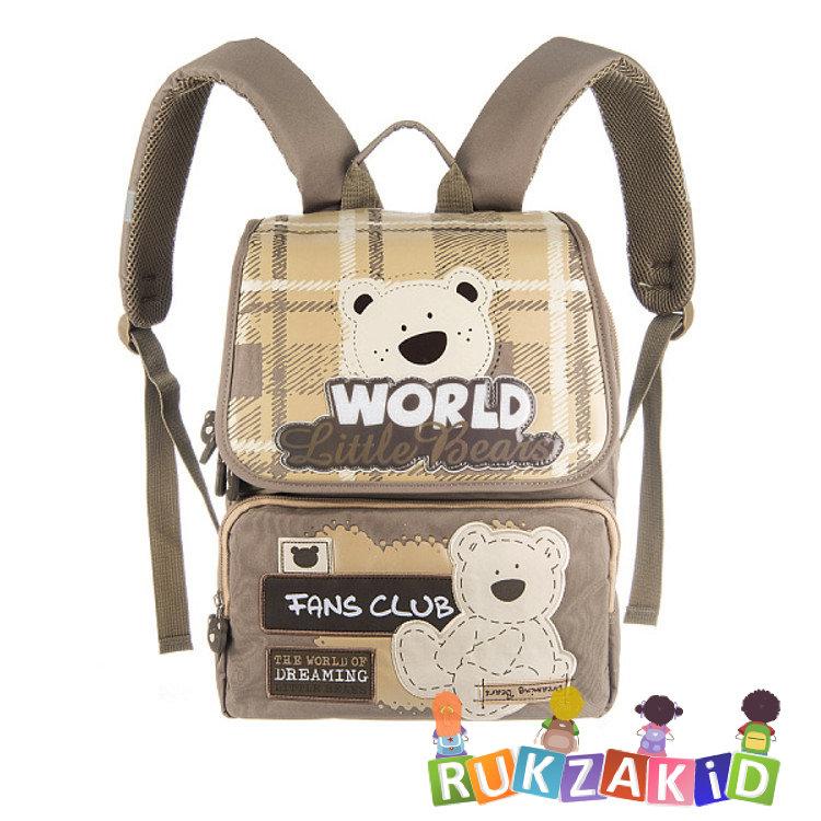 b8851bec Рюкзак школьный Grizzly RA-454-3 Медвежонок Бежевый - песочный