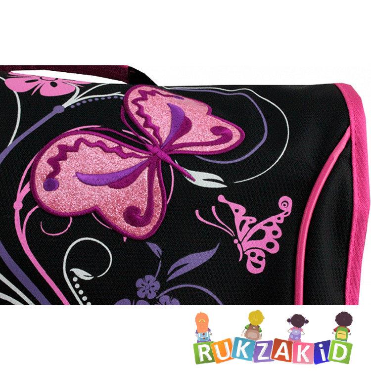 9dc575397592 Купить сумка школьная через плечо winner 162 цветы и бабочки черная ...