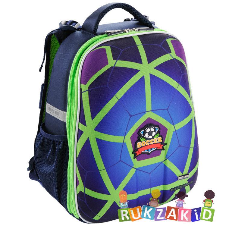 478ddee8f4db Купить рюкзак школьный mike mar 1008-129 футбол синий / зеленый кант ...