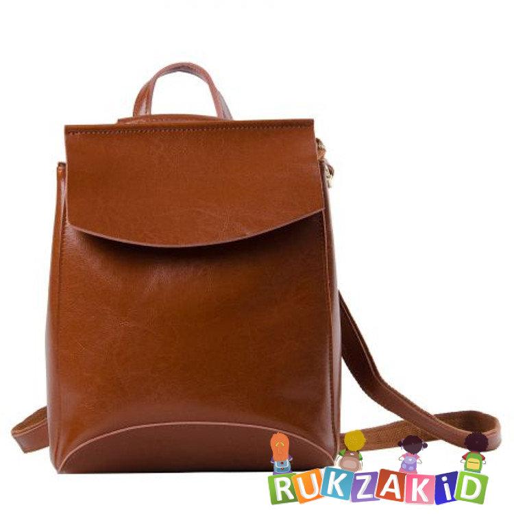 fae22fd71909 Купить женский кожаный рюкзак hawaii светло-коричневый в интернет ...